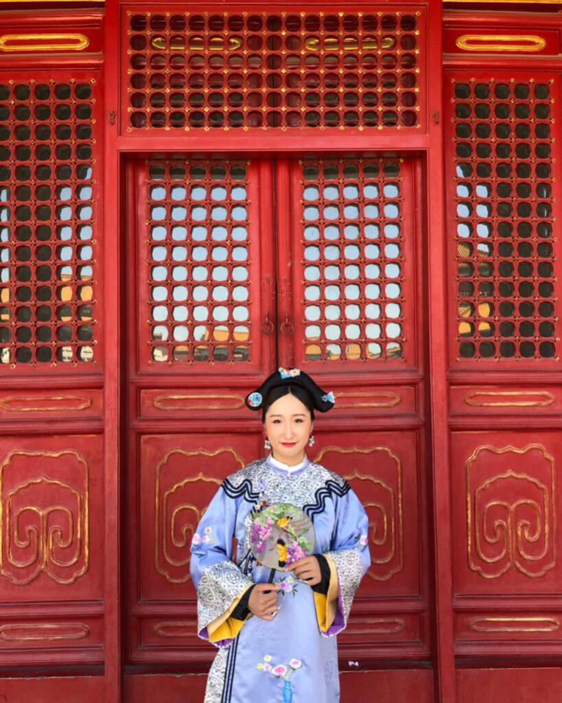 retrato en beijing dentro de ciudad prohibida