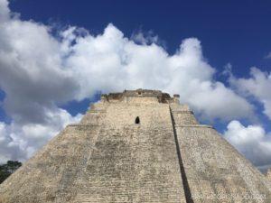 Pirámide del adivino en Uxmal Yucatán Mayas
