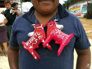 Toritos de cera en San Lucas Tlanichico Oaxaca
