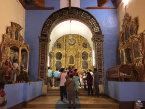 interior del templo de San Lucas Tlanichico Oaxaca