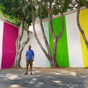 Patio del Museo de Arte Contemporáneo de Oaxaca MACO