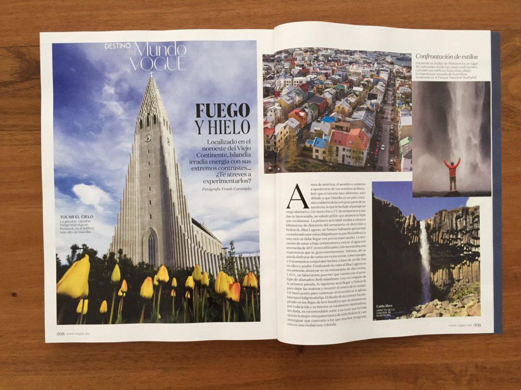 Revista vogue mexico articulo islandia
