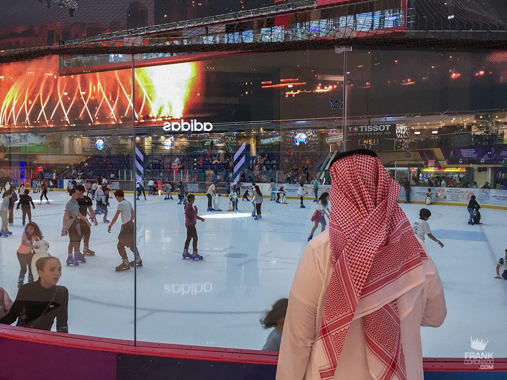 Pista de hielo en el dubai mall