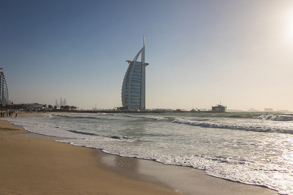 playa y hotel burj al arab