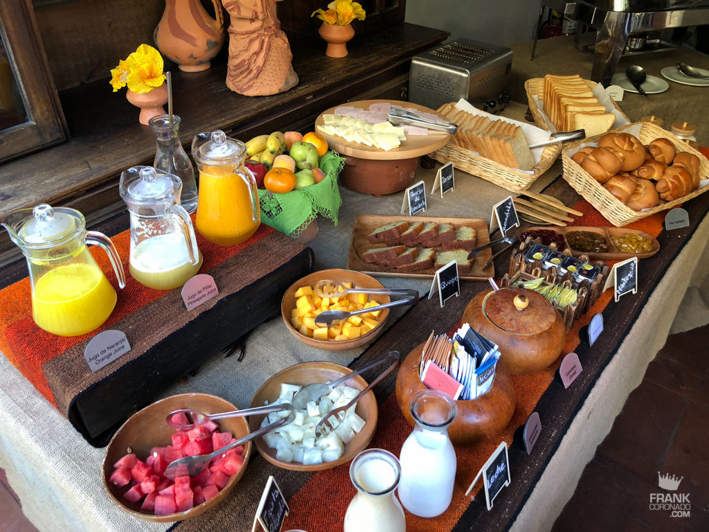 desayuno bufet en casa hacienda achamaqui