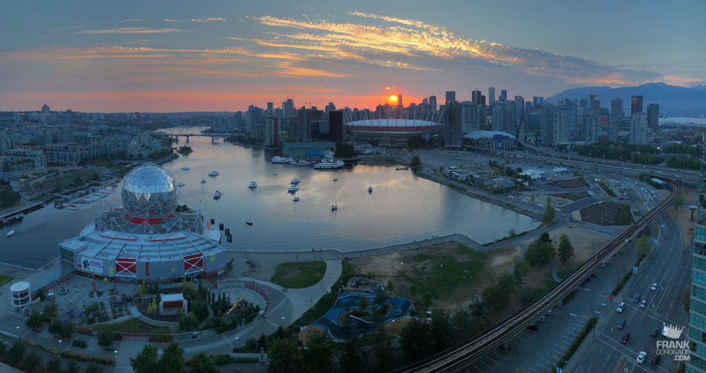vista panoramica de vancouver canada