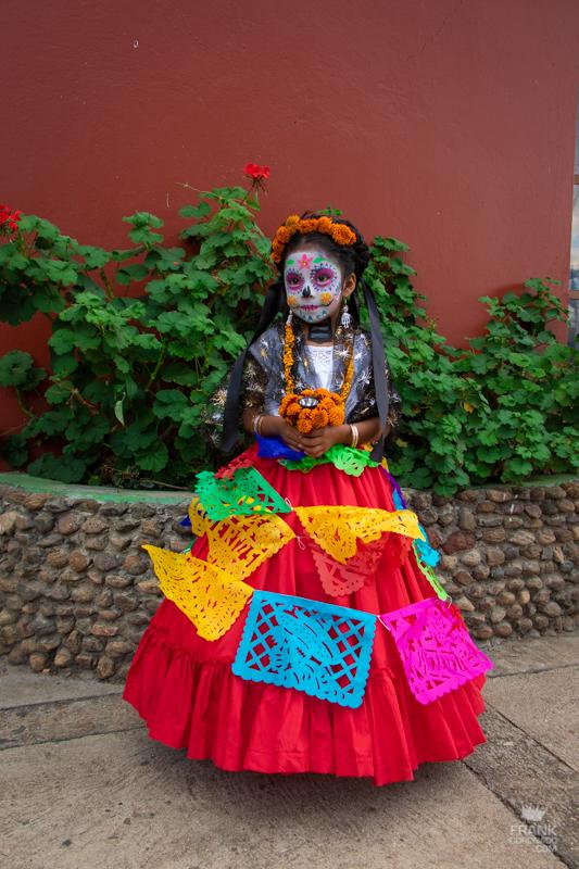 disfraz de catrina, maquillaje de catrina, dia de muertos en oaxca