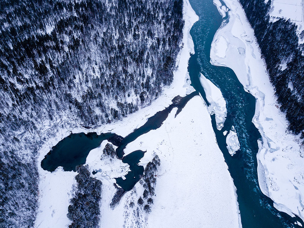 rio congelado en rusia