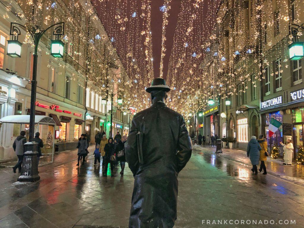 Luces navideñas en Moscú