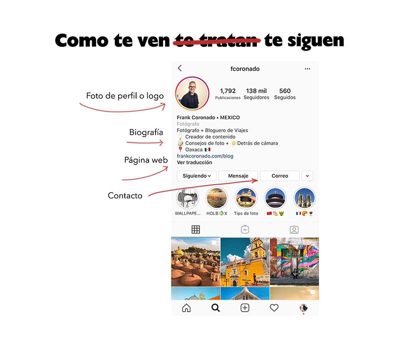 la biografia ideal en instagram