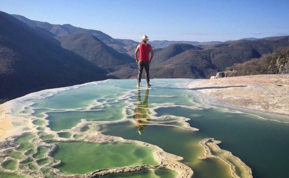 paisaje hierve el agua oaxaca