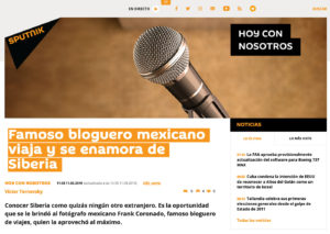 Entrevista Frank Coronado en Sputnik Rusia