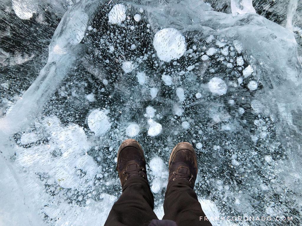 burbujas congeladas lago baikal