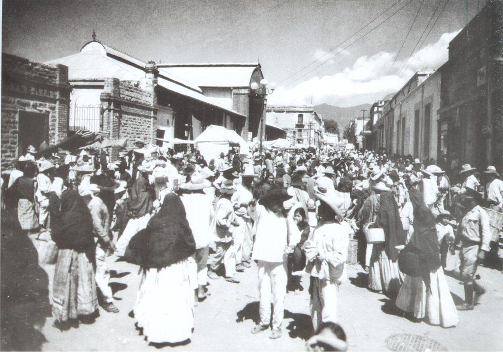 foto antigua mercado benito juarez oaxaca