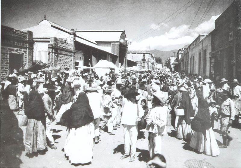 antigua foto del mercado de oaxaca