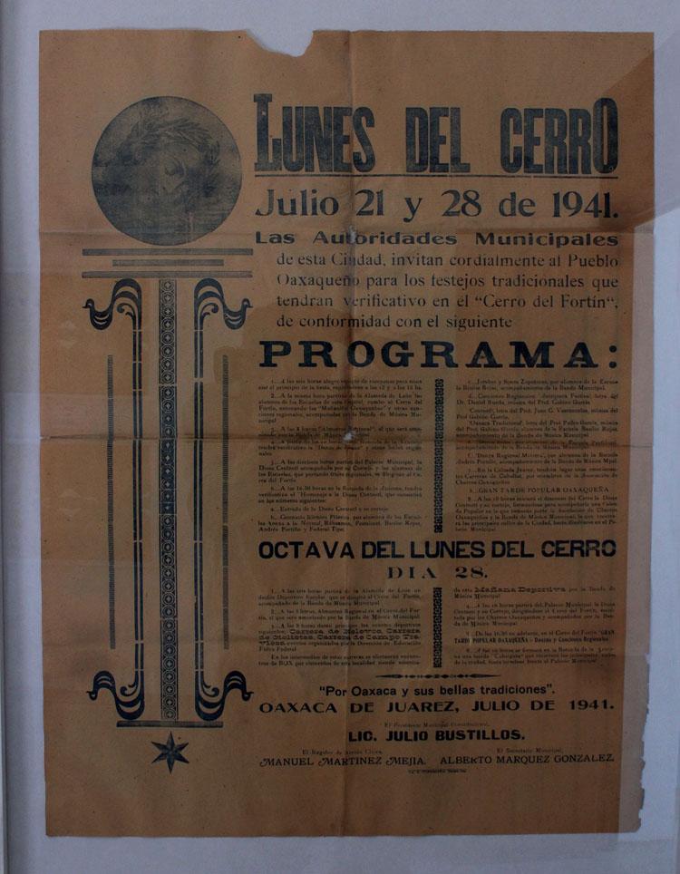 cartel antiguas del lunes del cerro