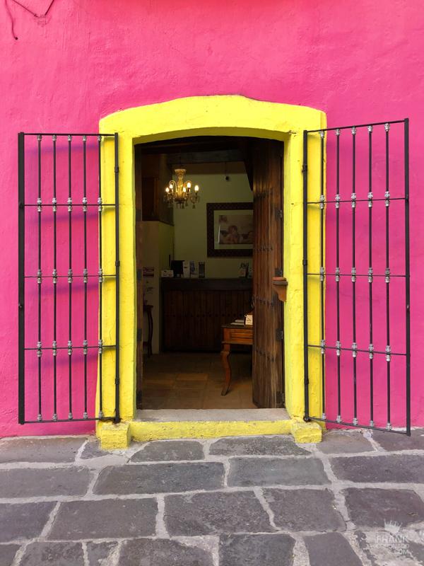 tiendas poblanas, casas de colores