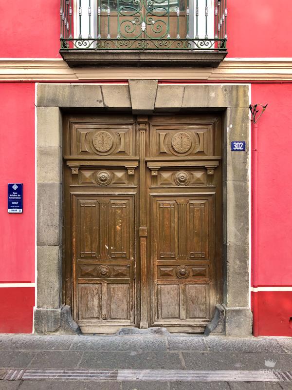 puertas antiguas, casas de puebla