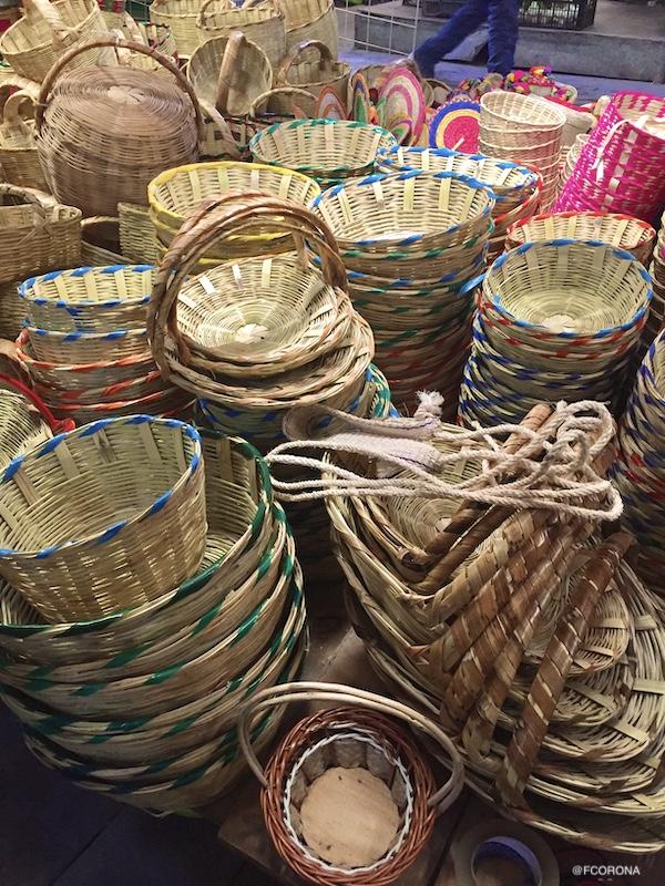 canastos de oaxaca, cestos de carrizo, que comprar en mexico