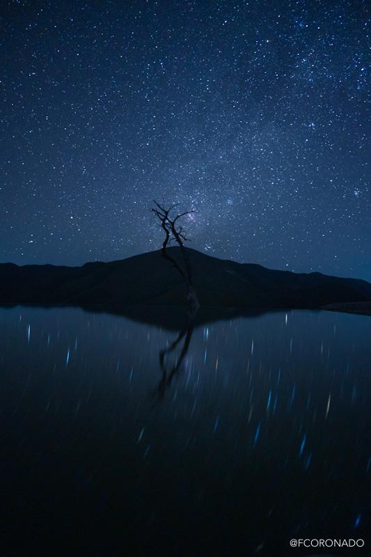 fotografia nocturna, via lactea, hierve el agua