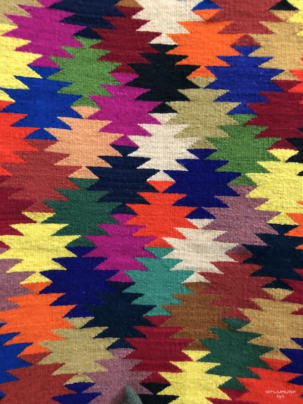 tapete de lana, telar de lana, teotitlan del valle