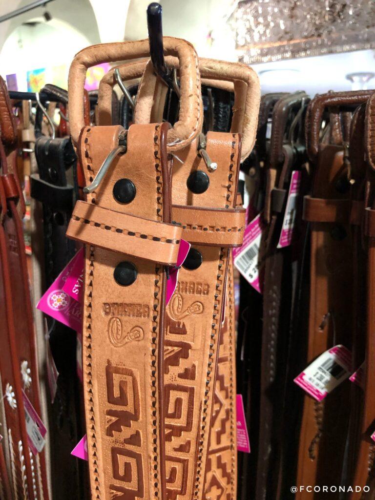 cinturones de piel, artesanias de oaxaca, productos de piel