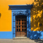 Casas coloridas del centro de Oaxaca