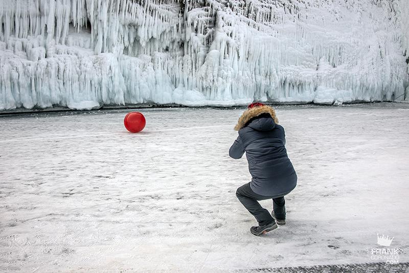 paisajes del lago baikal congelado