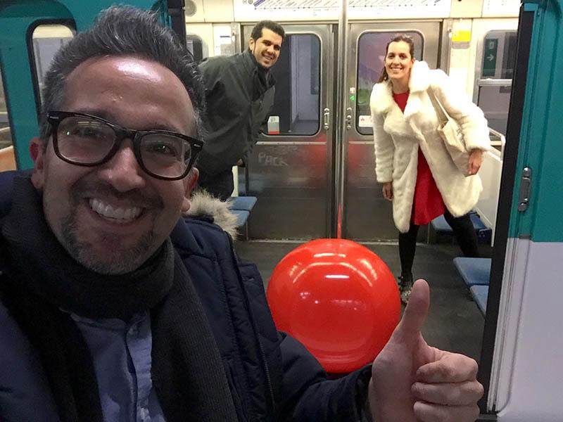 fotofrafias en el metro de paris