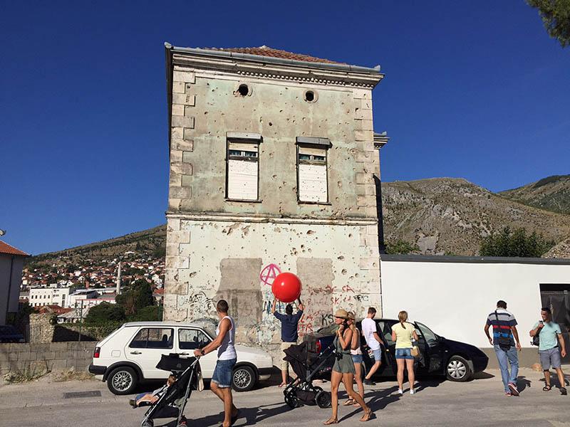 ciudad de Mostar en bosnia