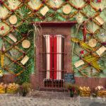 casa decorada por dia de muertos