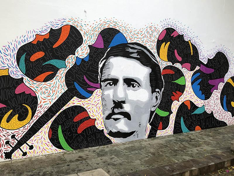 dios nunca muere Mural Bouler