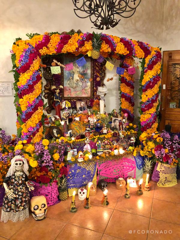 altar de muerto en la ciudad de oaxaca