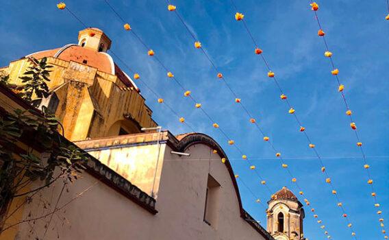 ciudad de oaxaca decorada por dia de muertos