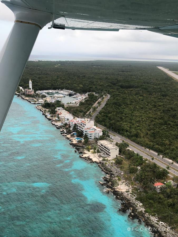 vista de cozumel desde el aire