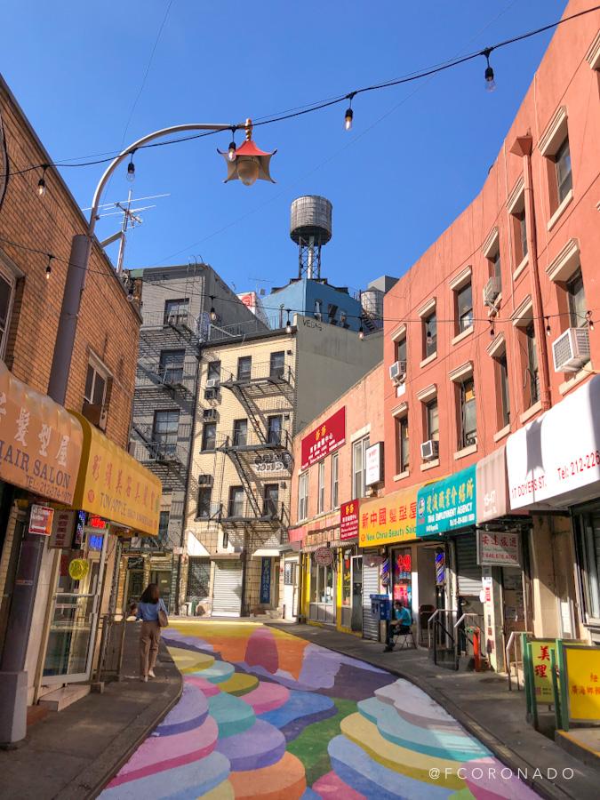 Callejon del barrio chino de Nueva york