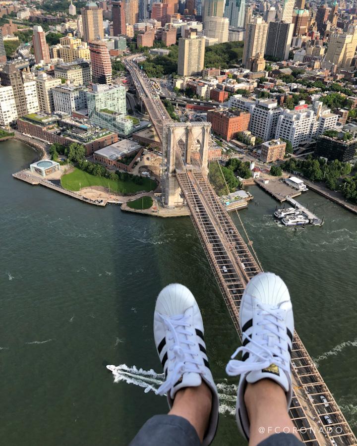puente de brooklyn desde un helicoptero
