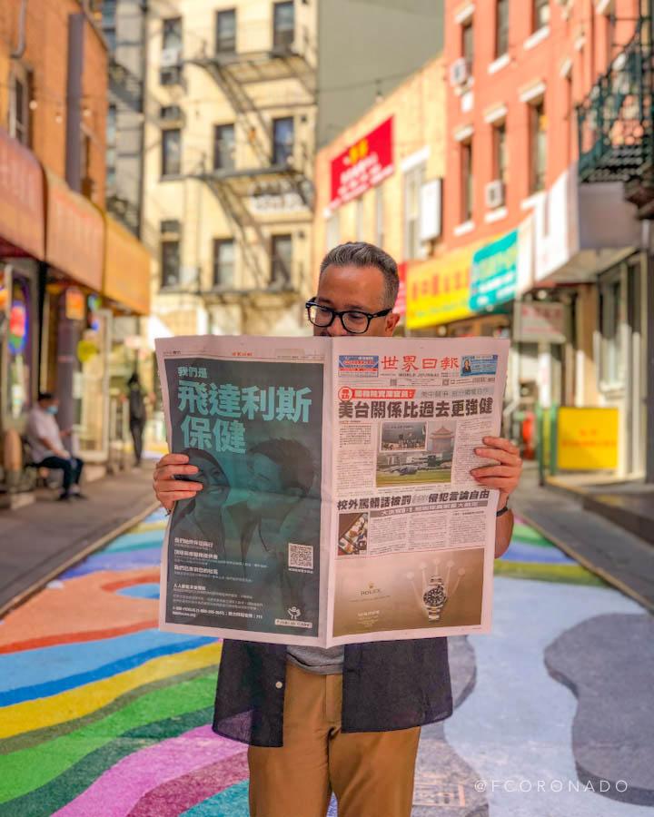 periodico chino en NYC