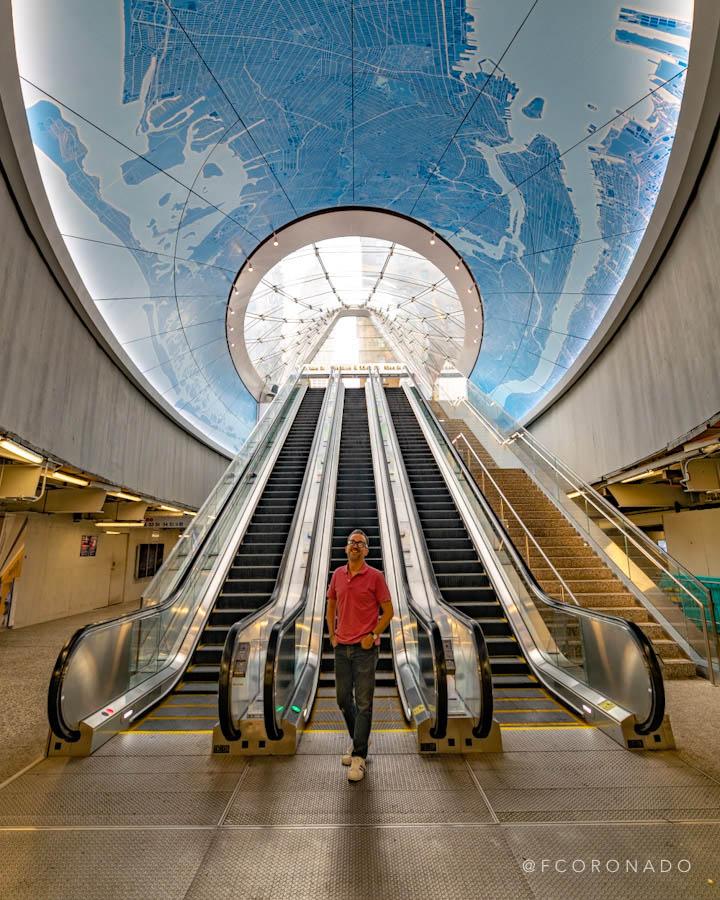 Escaleras Penn station NYC