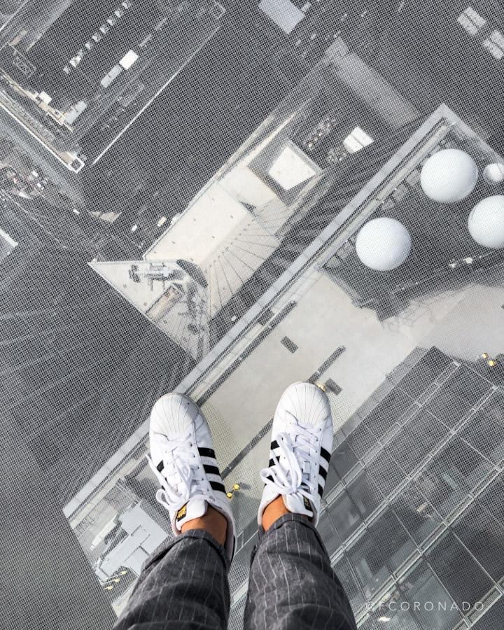 piso de cristal en NYC