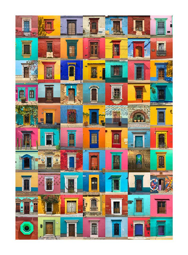 collage de fachadas de oaxaca
